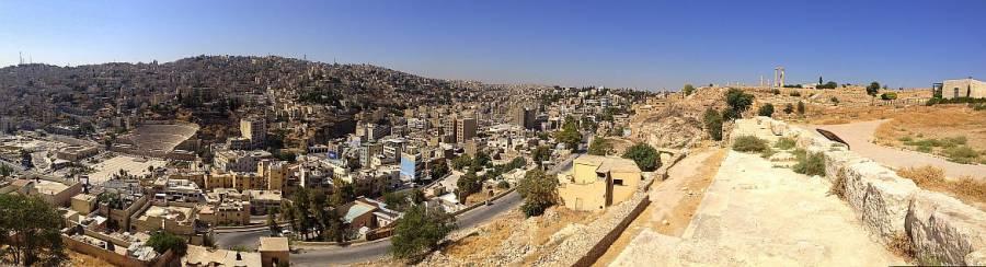 Jordanien | Panorama vom Zitadellenhügel in Amman. Blick von oben auf die Stadt