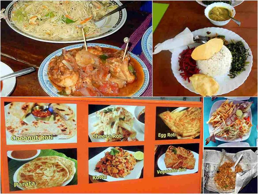 Sri Lanka | Eindrücke authentisch typisches Essen. Rice & Curry, Kottu, Fried Noodles, Roti, Fisch, Hühnchen
