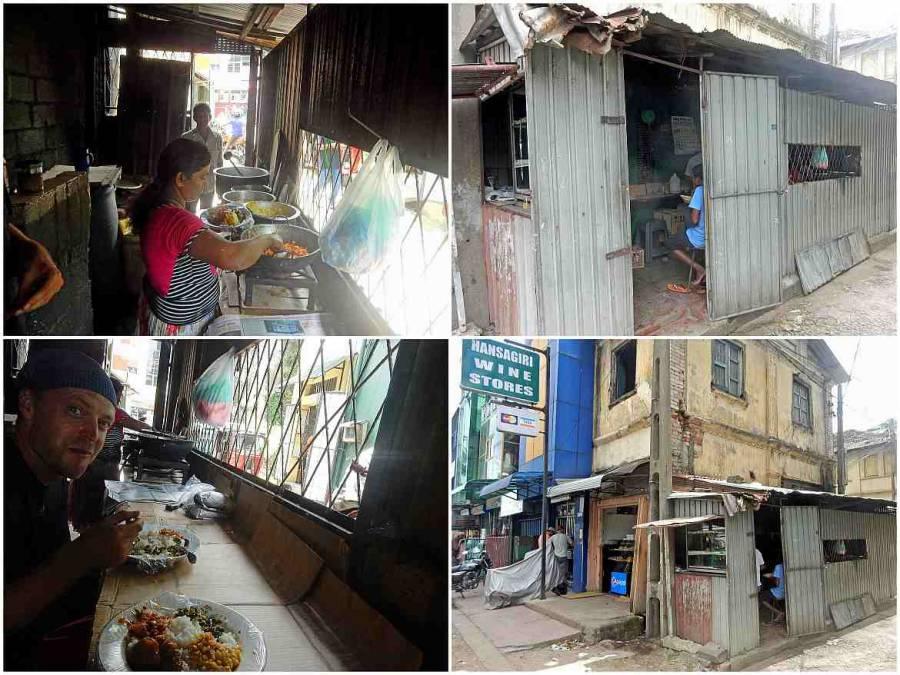 Sri Lanka | Eindrücke von Galle im Rice & Curry Restaurant für Einheimische. Authentisch Essen im Blechschuppen weit fern von hygienisch europäischem Standard.