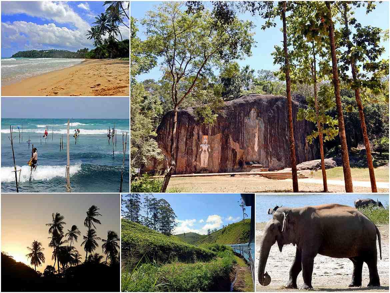Sri Lanka | Eindrücke einer Rundreise. Strand von Mirissa, Buduruwagala Temple, Stellenfischer von Koggala, Zugfahren durchs Zentralland