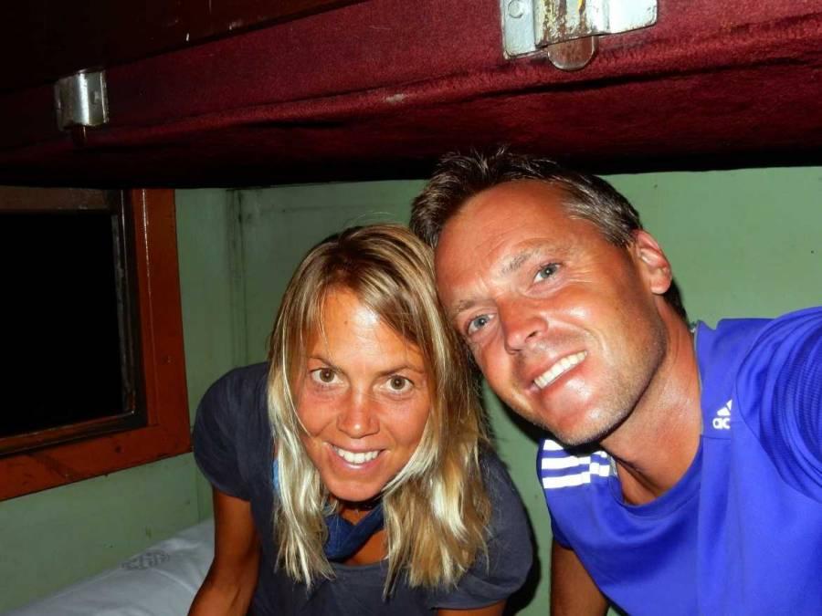 Die uralten Etagenbetten des Nachtzugs Trincomalee - Colombo