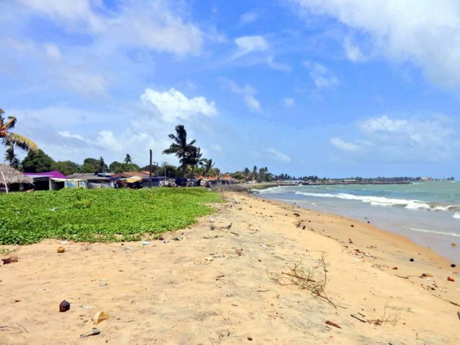 Sri Lanka | Negombo mit Blick Richtung Stadt über zahlreiche kleine Fischerhütten