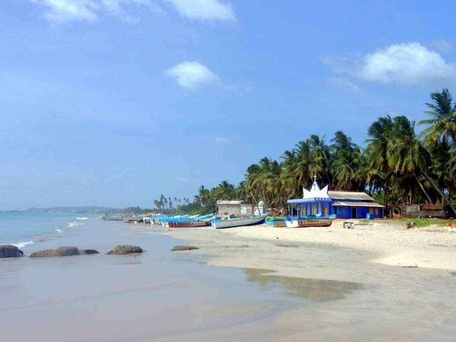 Sri Lanka | Sri Lanka | Uppuveli Beach mit Blick Richtung Trincomalee entlang zahlreicher Palmen