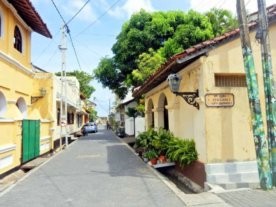 Sri Lanka | Blick in die kleinen Gassen der historischen Altstadt von Galle
