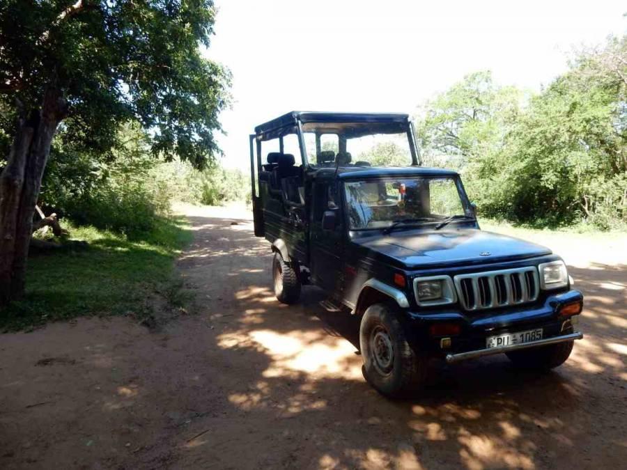 Sri Lanka | Typischer Jeep mit erhöhter Passagierkabine für Touren durch den Yala Nationalpark