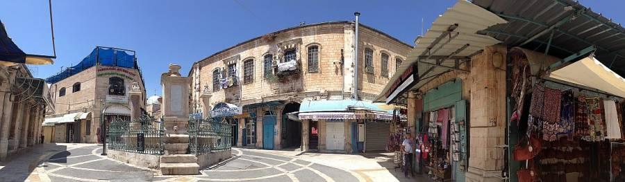 Jerusalem | Ein Platz der am Italien erinnert mit seinem Brunnen in der Mitte