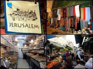Jerusalem | interessante Orte: Marktstände im Muslimischen Viertel der Altstadt mit zahlreichen orientalischen Köstlichkeiten