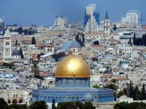 Jerusalem | Der prachtvolle bläuliche Felsendom mit seiner ikonischen goldenen Kuppel