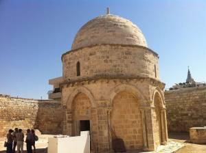 Jerusalem | Sehenswürdigkeiten: Schlichter Sandstein-Rundbau der Himmelfahrtskapelle auf dem Ölberg