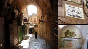 Jerusalem | Sehenswürdigkeiten: Die kleinen Gassen der Via Dolorosa über den Kreuzweg Jesu Christi durch die jerusalemer Altstadt
