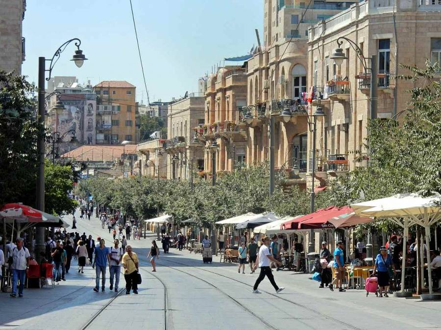 Jerusalem | interessante Orte: Das belebte Stadtzentrum West-Jerusalems in der Yaffa Street