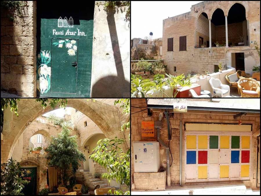 Jesus Trail | Fotocollage des orientalischen Herrenhauses des Fauzi Azar Inn