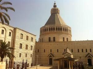 Jesus Trail | Innenhof vor der monumentalen Verkündigungsbasilika von Nazareth