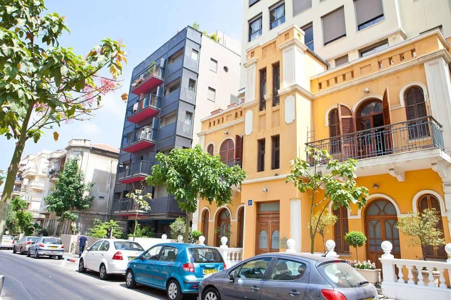 Tel Aviv | Sehenswürdigkeiten: Typische Bauhaus-Gebäude in der Innenstadt