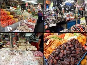 Tel Aviv | interessante Orte: Die zahlreichen Waren des Carmel Markt von Obst, Süßem bis hin zu Kleidung