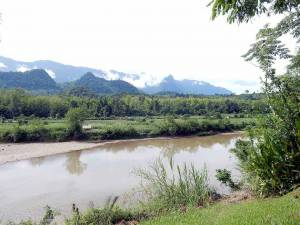 Laos | Elephant Villag, Blick auf den Nam Khan Fluss