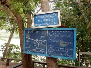 Laos | Abfahrtsort und Tickets für Boote zu den Pak Ou Höhlen in Luang Prabang