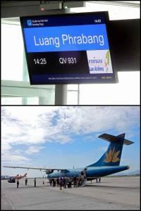 Laos | Ankunft am Flughafen in Lunang Prabang. Die Maschine von Lao Airlines