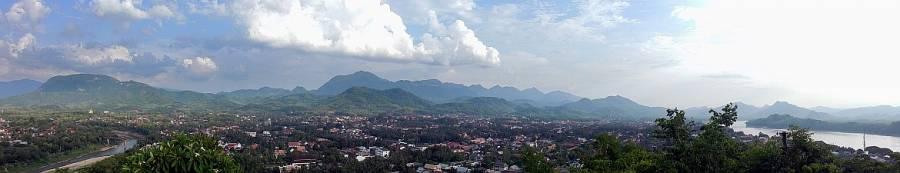 Laos | Panorama vom Mount Phousi in Lunang Prabang