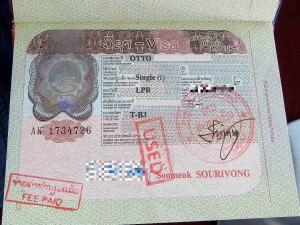 Laos | Visum, Stempel im Reisepass
