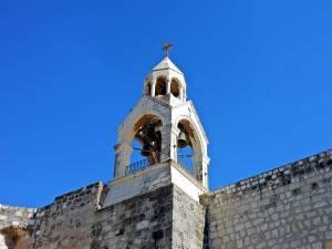 Palästina | Sehenswürdigkeiten: Turm der Geburtskirche in Bethlehem