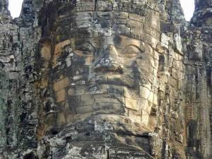Kambodscha | Bayon Nahaufnahme des Gesichts am Eingang