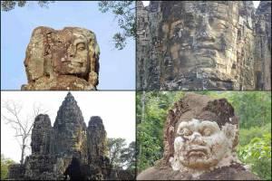Kambodscha | Verschiedene Gesichter im Tempel Bayon