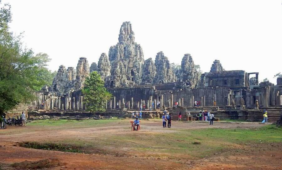 Kambodscha Angkor Wat Weltwunder | Panorama des Tempels Angkor Thom