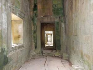 Kambodscha | Tempelgang in Angkor Wat mit moosbewachsenen Mauern