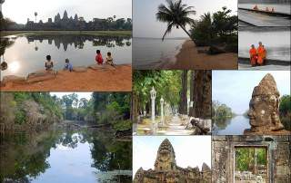 Kambodscha | Eindrücke interessanter Orte im Land. Angkor Wat, Angkor Thom, Siem Reap, Urwald, Mekong