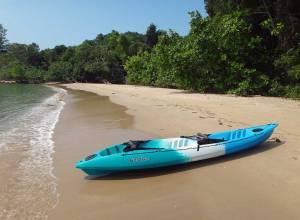 Kambodscha | Kanu des Koh Thmei Resorts bei einer unserer Kanutouren zur nördlich gelegenen Bucht