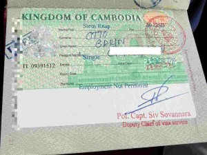 Kambodscha | Einreise Visum im Reisepass