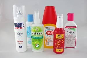 Mückenschutz | Es gibt zahlreiche mehr oder minder effektive Sorten von Hautspray mit den Wirkstoffen DEET, Icaridin, IR 3535 oder Citronella