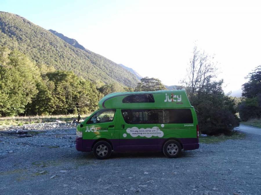 Neuseeland | Hitop Camper von Jucy im Milford Sound
