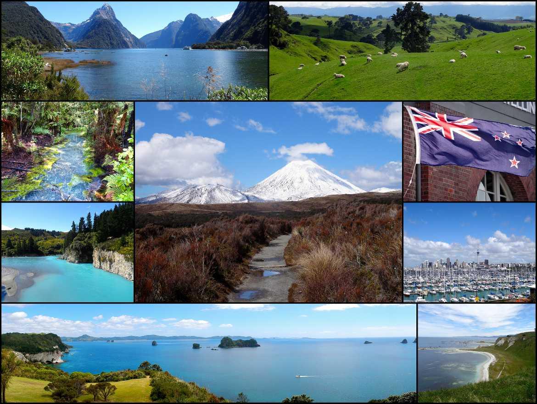 Neuseeland | Highlights, Sehenswürdigkeiten, Städte & interessante Orte von Norinsel & Südinsel. Milford Sound, Tongariro Nationalpark, Cathedral Cove, Hobbyton, Auckland, Rotorua, Kaikoura, um einige Tipps zu nennen