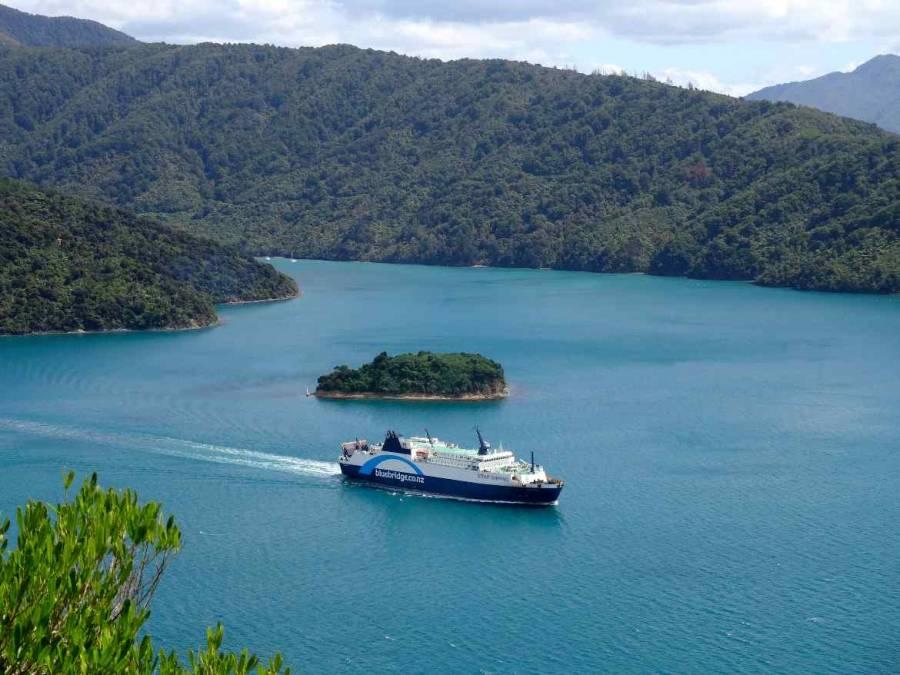 Neuseeland | bluebridgNeuseeland | bluebridge Fähre Fähre auf dem Weg durch die Cook Strait
