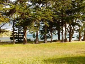 Neuseeland | Nordinsel, Panoramablick aus unserem Camper am Simpsons Beach Campingplatz bei Whitianga in der Coromandel