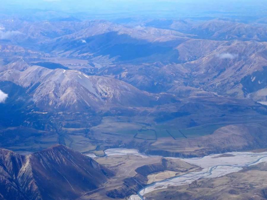 Neuseeland | Südinsel, Landeanflug Christchurch die Zweite. Panorama aus dem Flieger auf faszinierende Berge, die Alpen in Neuseeland