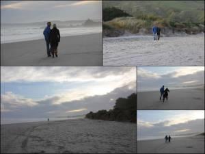 Südinsel, Eindrücke des Ocean View Recreation Reserve bei Dunedin bei Sonnenuntergang