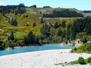 Neuseeland | Südinsel, Inland Scenic Route. Blick auf den türkisfarbenen Waitaki River