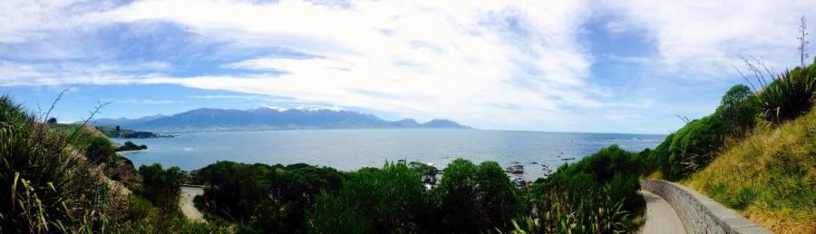 Neuseeland | Südinsel, Panorama auf das Meer beim Peninsula Walkway in Kaikoura