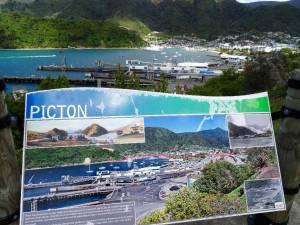 Südinsel, Panorama auf dem Hafen von Picton