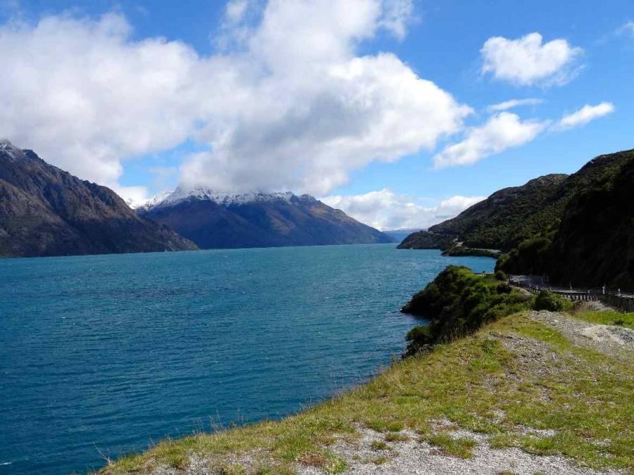 Neuseeland | Südinsel, Strecke entlang des Lake Wakatipu nach Queenstown von Te Anau kommend