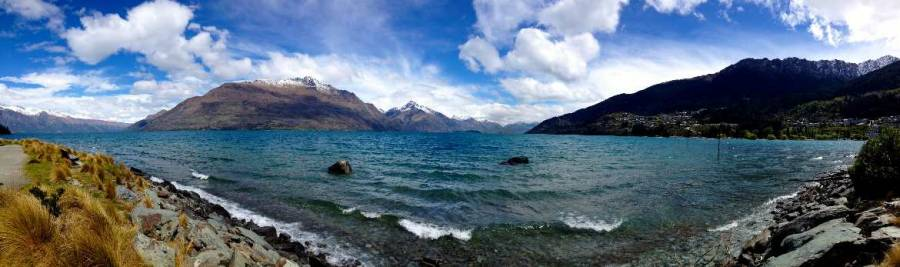 Neuseeland | Südinsel, Panorama auf den Lake Wakatipu in Queenstown