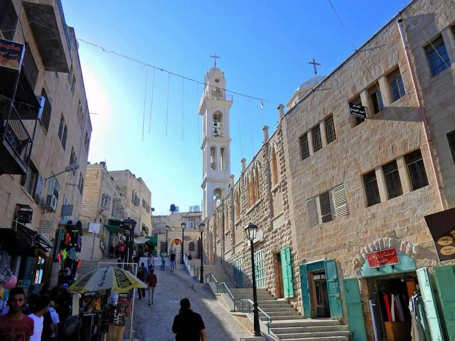 Palästina | Die Altstadt von Bethlehem mit zahlreichen Marktständen