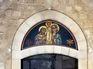 Palästina | Mosaik des Jesus Kindes an der Katharinenkirche von Bethlehem