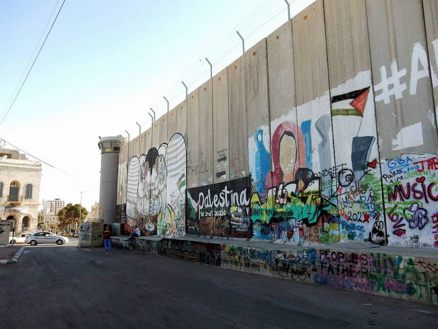Kunst an der Mauer vor Bethlehem