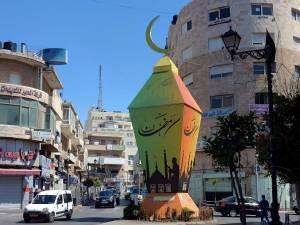 Palästina | Kreisverkehr in Ramallah