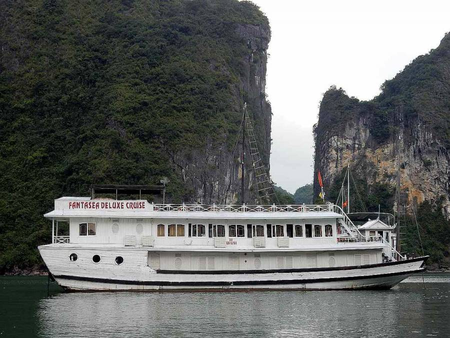 Vietnam | Norden, Fantasea Deluxe Cruise Boot in der Ha Long Bay