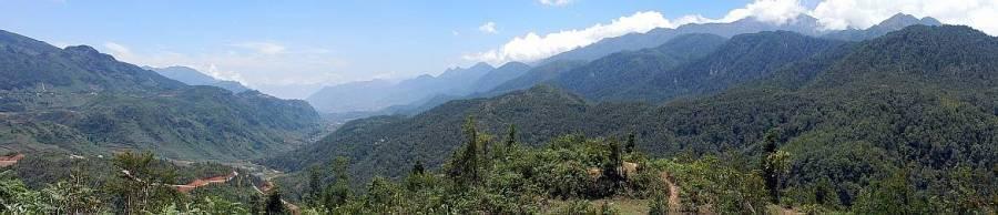 Vietnam | Norden, Panorama auf den Fansipan bei Sa Pa und das grüne Tal
